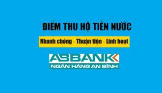 Điểm thu hộ tiền nước của ngân hàng An Bình