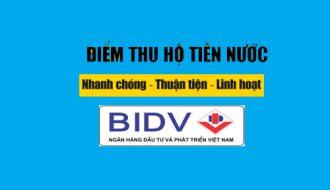 Điểm thu hộ tiền nước của ngân hàng BIDV