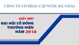 Giấy mời Dự họp Đại hội đồng cổ đông thường niên năm 2018